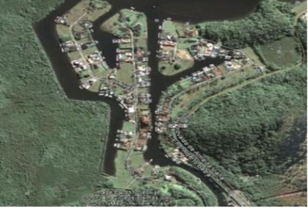 Figura 11. Vista aérea da Marina Guarujá.