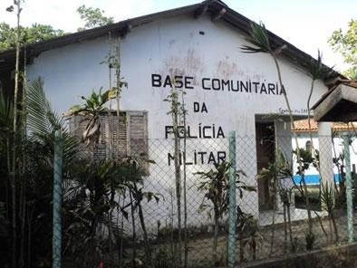 Figura 66. Posto de saúde e Base comunitária da Polícia Militar na Prainha Branca.